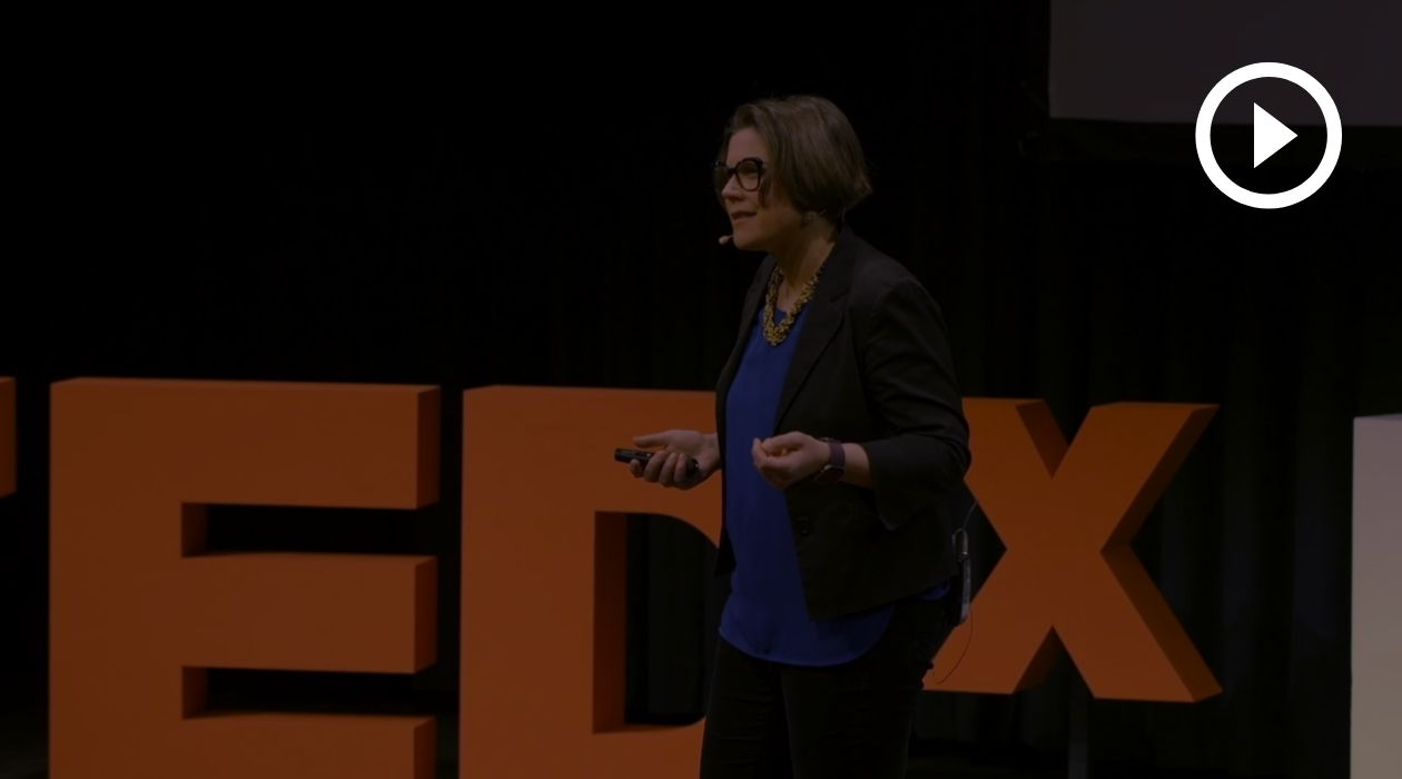 Sonia Weyers on her TEDx Stage