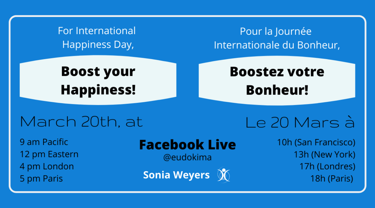 Journée Internationale du Bonheur 2020. Un Facebook Live