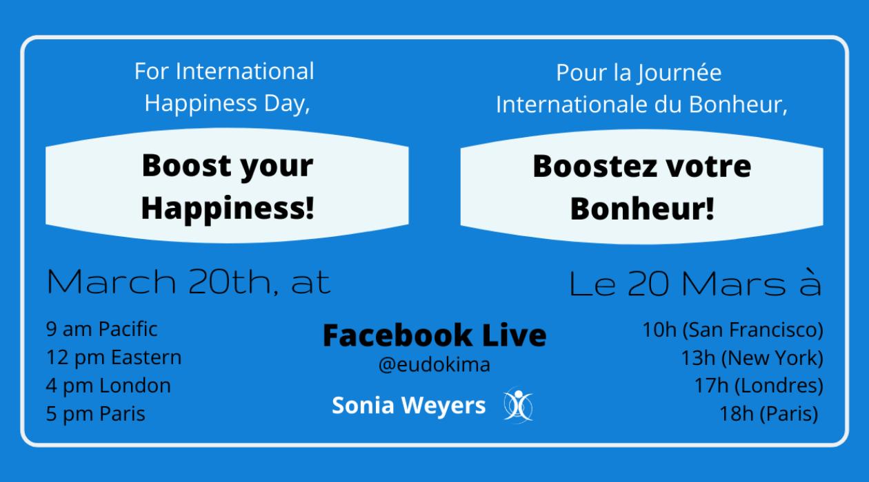 Journée Internationale du Bonheur 2020. Un Facebook Live