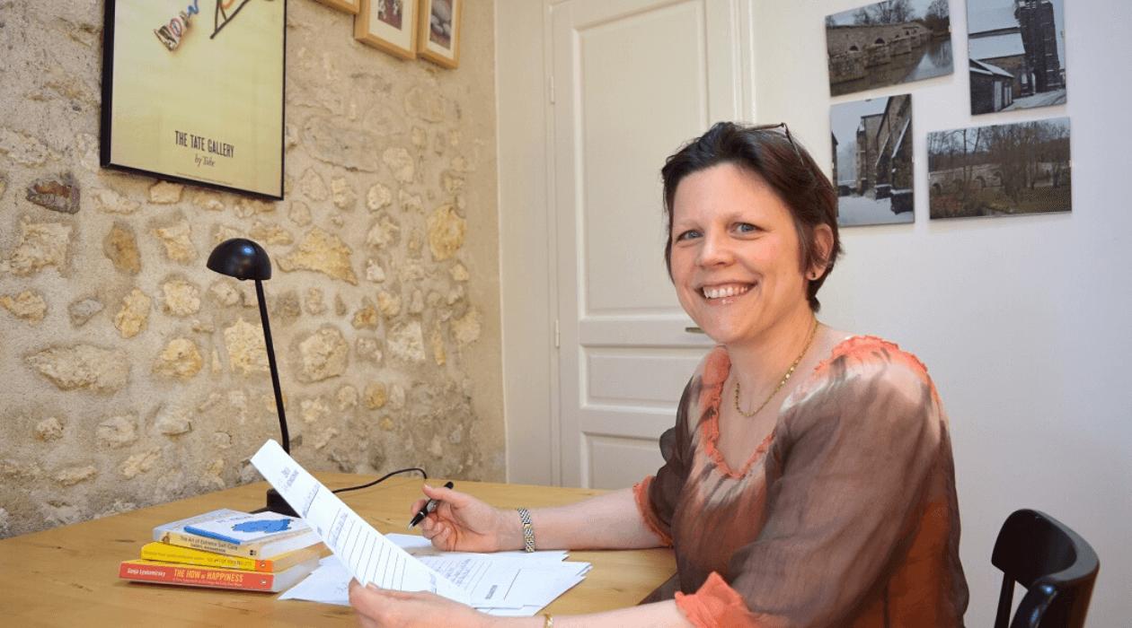 Sonia Weyers à son bureau.
