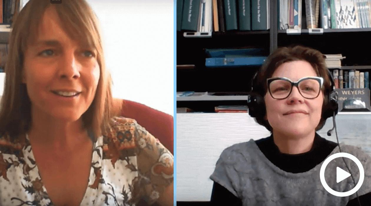 Nathalie Dahl interviewing Sonia Weyers