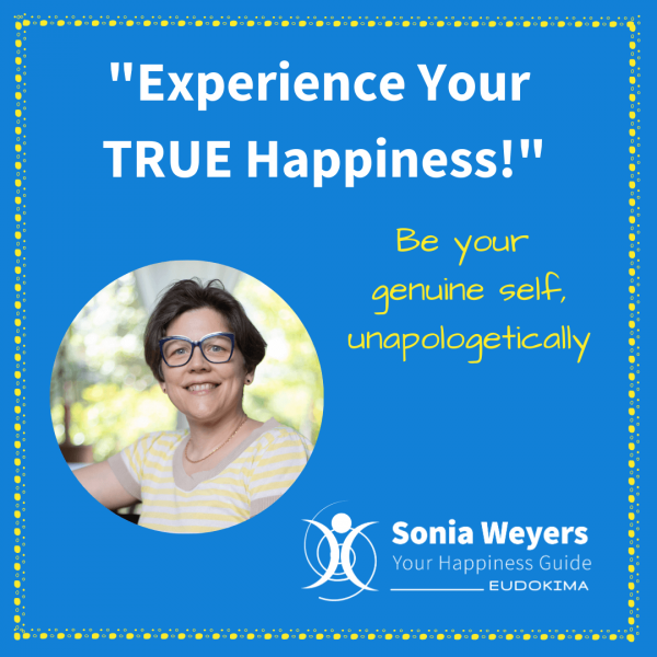 """The """"Experience Your TRUE Happiness"""" Haven with Sonia Weyers - Eudokima Square Banner"""